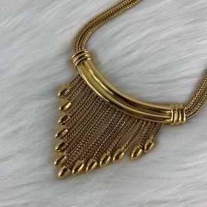 Vintage Monet Gold plated statement necklace